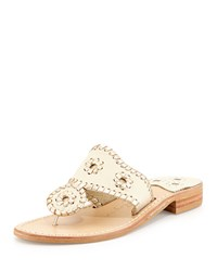 Palm Beach Whipstitch Thong Sandal Bone Platinum Jack Rogers