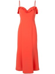 Likely Sweetheart Neckline Midi Dress Orange
