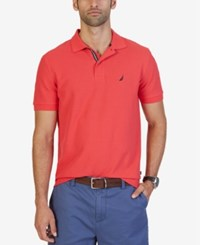 Nautica Big And Tall Men's Shirt Solid Deck Performance Polo Rose Coral