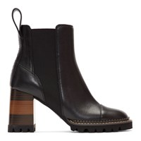 See By Chloe Black Mallory Heeled Boots