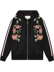 Gucci Embroidered Jersey Sweatshirt Women Cotton Polyester S Black