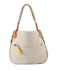Oryany Joyce Colorblock Hobo Bag Stone Multi