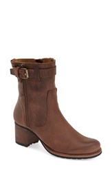 Women's Trask 'Madison' Short Boot Dark Brown Calfskin
