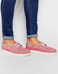 Toms Culver Boat Shoe Red
