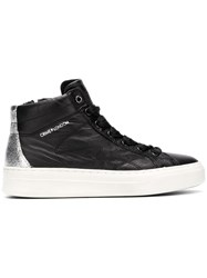 Crime London Quilted Mid Top Sneakers Black