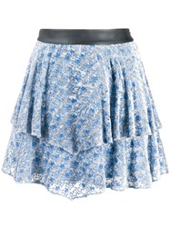 Zadig And Voltaire Paisley Print Tiered Skirt 60
