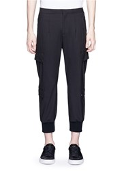Neil Barrett Rib Cuff Cargo Pants Black