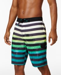 Speedo Men's Paradise Striped Board Shorts 10 Granite