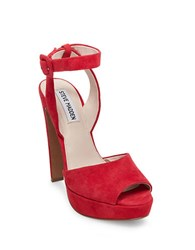 Steve Madden Amber Platform Dress Sandals Red