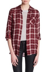 Jack Long Sleeve Plaid Blouse Red