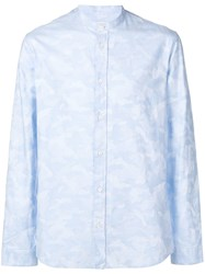 Zadig And Voltaire Camouflage Print Shirt Blue