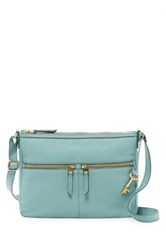 Fossil Erin Leather Crossbody Blue