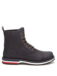 Moncler New Vancouver Suede Boots Navy Multi