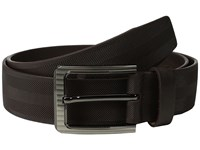 Stacy Adams 38Mm Full Gain Leather With Herringbone Design Brown Men's Belts