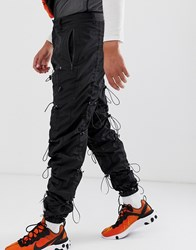 Jaded London Ruched Cargo Trousers In Black