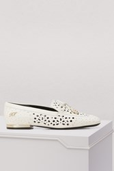 Roger Vivier Perforated Moccasins Blanc Cire