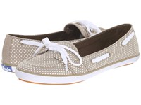 Keds Teacup Boat Micro Dot Olive Chambray Women's Flat Shoes Gray