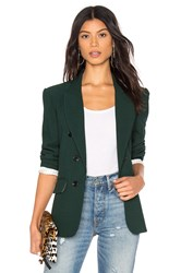 1.State Ruched Sleeve Blazer Green