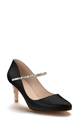 Shoes Of Prey Women's Mary Jane Pump Black Snake Print Leather