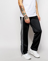 Kappa Skinny Joggers With Side Zips Black