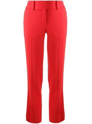 Ermanno Scervino High Waisted Pleated Trousers Red