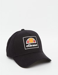 Ellesse Box Logo Baseball Cap Exclusive To Asos Black