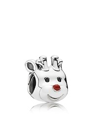 Pandora Design Pandora Charm Sterling Silver And Enamel Red Nosed Reindeer Moments Collection