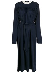 Sofie D'hoore Gathered Midi Dress Blue
