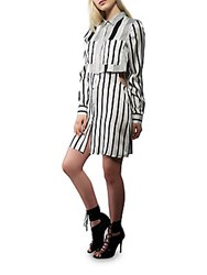 Kendall Kylie Peek A Boo Shirt Dress White Black