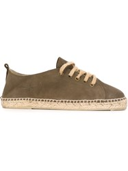 Manebi Manebi 'Hamptons' Lace Up Espadrilles Brown