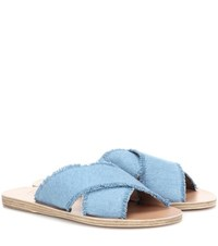 Ancient Greek Sandals Thais Denim Blue