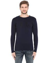 G Star Logo Wool Blend Sweater