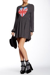 Wildfox Couture British Babe London Babydoll Dress Black
