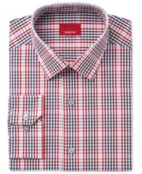 Alfani Men's Slim Fit Stretch Red Optic Check Dress Shirt Only At Macy's