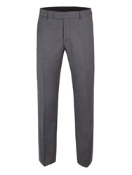 Aston And Gunn Men's Rufford Grey Birdseye Trouser Charcoal