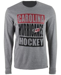 47 Brand '47 Men's Carolina Hurricanes Stacked Club Long Sleeve T Shirt Gray