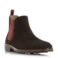 Oliver Sweeney Burrows Rubber Toe Suede Chelsea Boots Brown