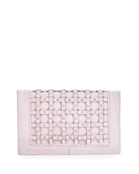 Ash Lulu Ring Detail Clutch Bag Pink