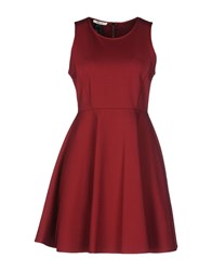 Toy G. Short Dresses Maroon