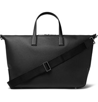 Hugo Boss Full Grain Leather Holdall Black