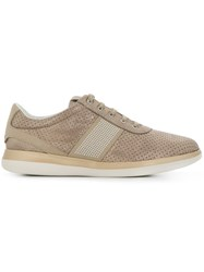 Geox Lace Up Sneakers Brown