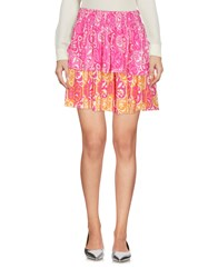 Maison Scotch Mini Skirts Fuchsia