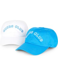 Guess Originals X A Ap Rocky Pack Of Two Baseball Caps Malibu Blue