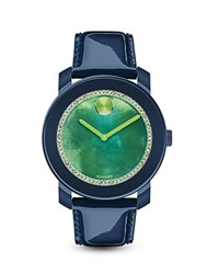 Movado Bold Navy Watch With Green Watercolor Sunray Dial 42Mm Bloomingdale's Exclusive Navy Green