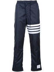 Thom Browne Seamed 4 Bar Stripe Ripstop Pants Blue