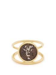 Dubini Alexander The Great Sterling Silver And Gold Ring