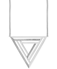 Effy Collection Geo By Effy Diamond Triangle Pendant Necklace 1 4 Ct. T.W. In Sterling Silver