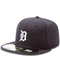 New Era Mlb Hat Detroit Tigers On Field 59Fifty Fitted Baseball Cap Navy
