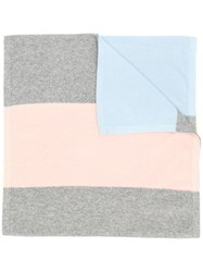 Chinti And Parker Colour Block Scarf Grey
