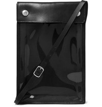 Our Legacy Leather And Latex Messenger Bag Black